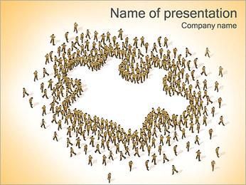 Personas En Puzzle Plantillas de Presentaciones PowerPoint
