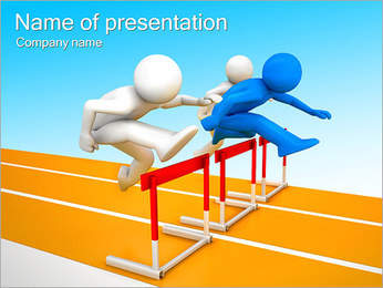 Racing And Jumping PowerPoint Template