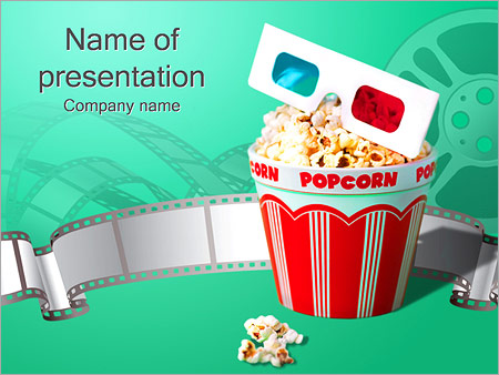 Popcorn At The Cinema PowerPoint Template