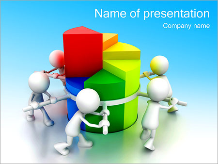 Positive Team Work PowerPoint Template