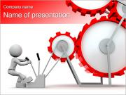 Man Works With Mechanism PowerPoint Templates