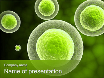 Green Square Abstract Objects PowerPoint Template