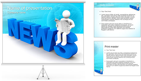 Reading Newspaper PowerPoint Template Backgrounds ID 0000002699 – Newspaper Powerpoint Template