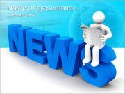 Krant van de lezing Sjablonen PowerPoint presentatie