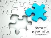 Blue-Colored Puzzle Part PowerPoint Templates