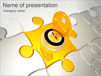Key To Business Puzzle PowerPoint Template