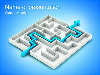 Way In Labyrinth PowerPoint Template