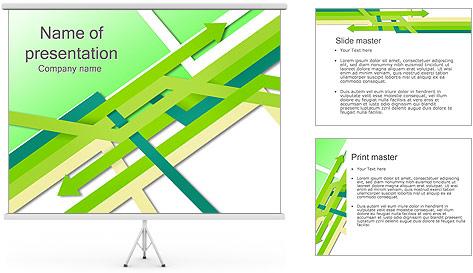 Flèches vertes Modèles des présentations  PowerPoint