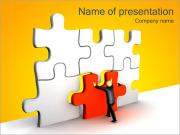 Red Puzzle Part PowerPoint Templates