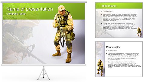 Military Worker PowerPoint Template