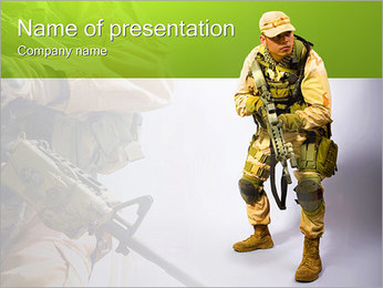 Military Worker PowerPoint Templates - Slide 1