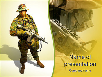 Soldier With Weapon PowerPoint Template