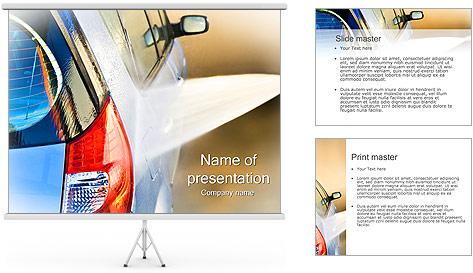 Lavage de voitures Modèles des présentations  PowerPoint