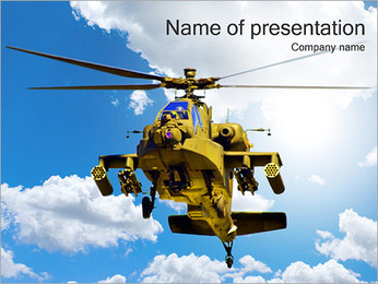 Helikopter In The Sky Sjablonen PowerPoint presentatie