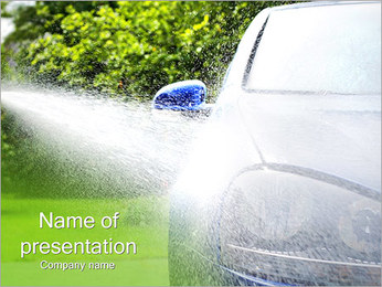 Cleaning The Car PowerPoint Template