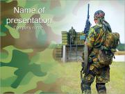 Soldier Standing Back PowerPoint Templates