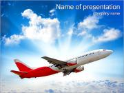 Plane In The Sky PowerPoint presentationsmallar