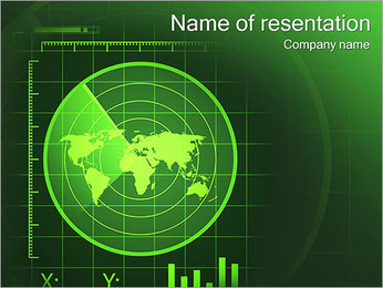 緑のレーダー PowerPointプレゼンテーションのテンプレート