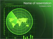 Green Radar PowerPoint Templates
