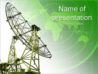 緑サテライト PowerPointプレゼンテーションのテンプレート