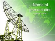 Green Satellite PowerPoint Templates
