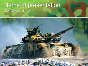 Army Tank PowerPoint Template