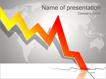 Result Fall Down PowerPoint Template