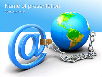 E-mail Address Sign PowerPoint Template