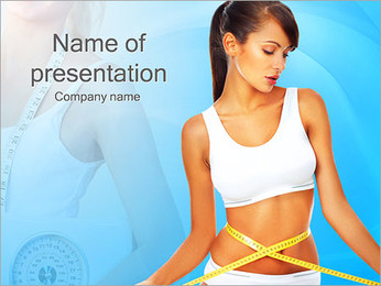 Fitness Woman PowerPoint Template - Slide 1