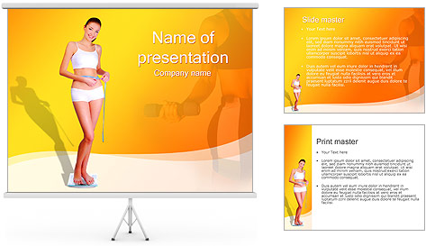 Sporty Girl PowerPoint Template