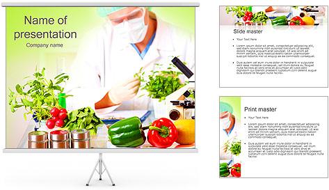 Lab et légumes Modèles des présentations  PowerPoint