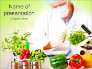 Lab And Vegetables PowerPoint Templates