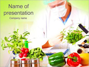 研究室と野菜 PowerPointプレゼンテーションのテンプレート