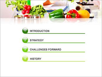 Lab et légumes Modèles des présentations  PowerPoint - Diapositives 3