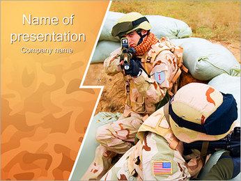 USA Army Force Sjablonen PowerPoint presentatie