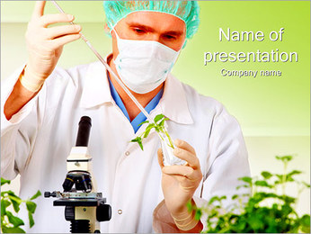Laboratorial Food Test PowerPoint Template