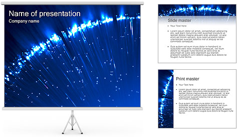 Blue Lighted Abstract Graphic PowerPoint Template
