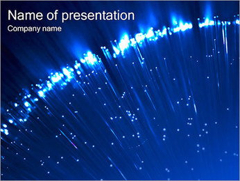 Blue Lighted Abstract Graphic PowerPoint Template - Slide 1