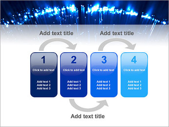 Blue Lighted Abstract Graphic PowerPoint Template - Slide 11