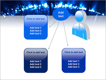 Blue Lighted Abstract Graphic PowerPoint Templates - Slide 12