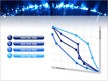 Blue Lighted Abstract Graphic PowerPoint Template - Slide 13