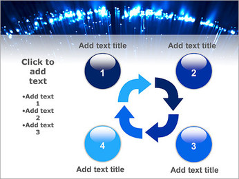 Blue Lighted Abstract Graphic PowerPoint Template - Slide 14