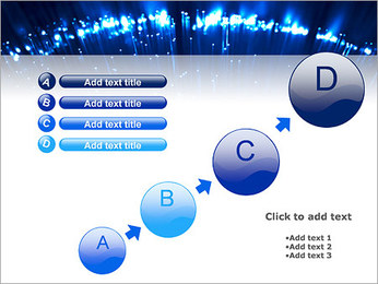 Blue Lighted Abstract Graphic PowerPoint Template - Slide 15