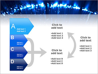 Blue Lighted Abstract Graphic PowerPoint Template - Slide 16