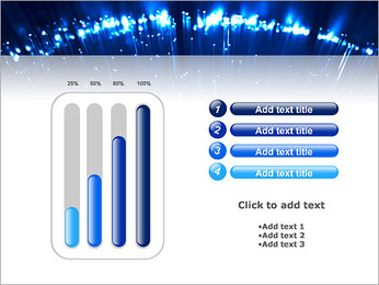 Blue Lighted Abstract Graphic PowerPoint Template - Slide 18