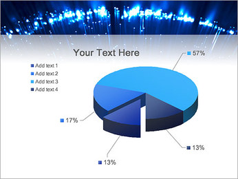 Blue Lighted Abstract Graphic PowerPoint Template - Slide 19