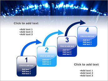 Blue Lighted Abstract Graphic PowerPoint Templates - Slide 20