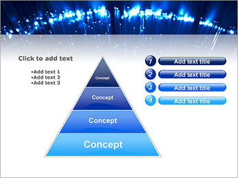 Blue Lighted Abstract Graphic PowerPoint Template - Slide 22