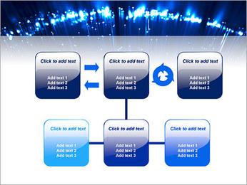 Blue Lighted Abstract Graphic PowerPoint Templates - Slide 23