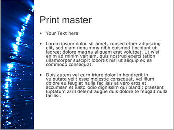 Blue Lighted Abstract Graphic PowerPoint Template - Slide 24